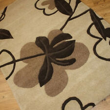 Indian Wool Rugs Premium Best Quality Thick Clearance Stylish Home Interior Rug 90x150cm (3x5') 23.erica Beige
