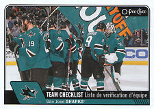 16/17 O-PEE-CHEE OPC TEAM CHECKLIST #639 SAN JOSE SHARKS THORNTON JONES *24042