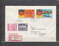 DDR Einschreiben 9526 Stenn MiNr. 2116, 2117, 1820, 1879