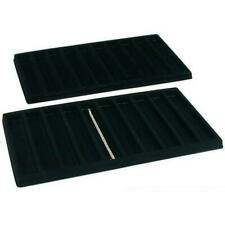 2 Black 10 Compartment Bracelet Display Tray Inserts