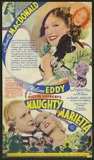 NAUGHTY MARIETTA Movie POSTER 11x17 D Jeanette MacDonald Nelson Eddy Frank