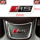 RS RS3 RS4 3D Steering Wheel Badge Logo Sticker Dash Emblem Styling AUDI RS3 RS4