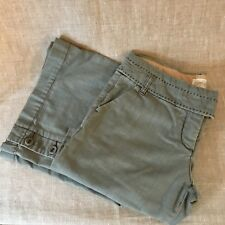 Anthropologie Cidra Womens Pants Jeans Pre-Owned Size 8 Gray Cotton Wide Leg