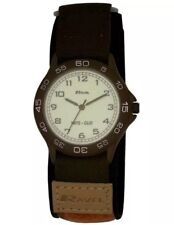 Ravel Analogue Adult Boys Brown & Beige Nite-Glo Easy Fasten Strap Watch R1705.4