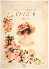 Rice Paper for Decoupage Decopatch Scrapbook Craft Sheet Vintage L'amour Lady