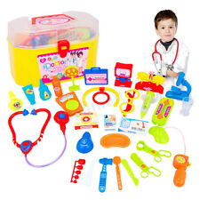 29Pcs Kids Baby Doctor Nurse Medical Role Play Educational Toys Kit Carry Case