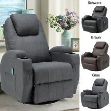 Massagesessel Fernsehsessel 360°drehbar Relaxsessel Wärmefunktion Polstersessel