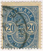 DANEMARK / DENMARK - 1885 - Mi.36.YA 20ö p.14x13-1/2 (Sc.40 - Wmk 112) VF Used