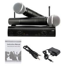 PGX-58 VHF Wireless Microphone System Dual Handheld 2 x Mic Cordless Receiv
