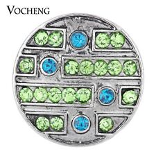Vocheng Snap Charms 2 Colors Inlaid Crystal 18mm Metal Button Vn-1315