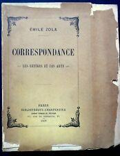 """Correspondance """"Les Lettres et les Arts"""" édition sur Hollande - Emile Zola"""