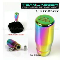 FOR KDM CARS! M10 THREADED! USA 6-SPEED LONG STYLE MANUAL SHIFT KNOB NEOCHROME