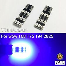 T10 W5W 194 168 2825 175 Parking marker corner Light BLUE 18 Canbus LED M1 M
