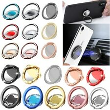 Bling 360° Finger Grip Magnetic Metal Ring Stand Holder Bracket For Phone Tablet