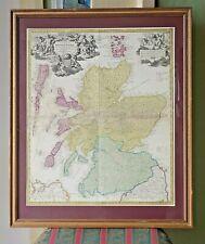 c1710 Homann Scotland Regnum Scotiae Scottish Antique Map Edinburgh Glasgow Old