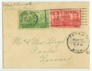1937 1ct & 2ct Navy - small Detroit Michigan cover
