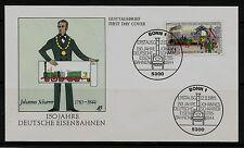 """BRD FDC MiNr 1264 (4) """"150 Jahre Deutsche Eisenbahnen"""" -Verkehr-Technik-Adler-"""