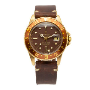 Complete!Rolex GMT-Master Rootbeer 18kt Yellow Gold w/Brown Nipple Dial – 1675/8