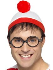 Adult Where's Wally Fancy Dress Set Hat & Glasses Kit New by Smiffys