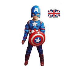 Superhero Kids Muscle Captain America Avengers Cosplay Halloween Costumes Boys