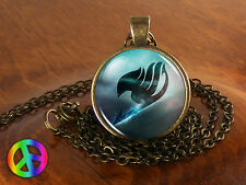 Anime Fairy Tail Guild Marks Blue Wing Pendant Necklace Jewelry Art Gift Cosplay