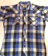 BRANDED Western Wear, mens size L, Pearl Snap, multi-color plaids, Rockabilly