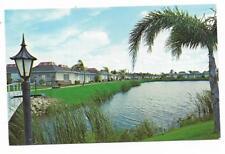 Vintage Florida Chrome Postcard Tarpon Springs Tahitian Gardens Condominium