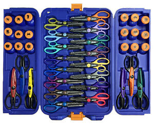 Fiskars 40 Piece Scissor & Punch Set in Travel Case for Craft/Scrapbook 30242