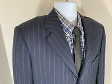Kiton Diamente Blue Pinstripe 2 Pc Suit 38R