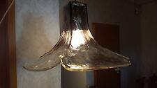 XL Mazzega Murano 4x Ice glass ceiling lamp Eisglas Lampe DESIGN CARLO NASON