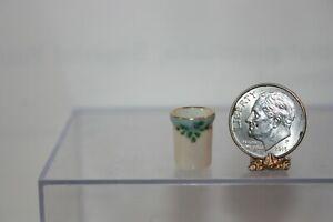 Miniature Dollhouse Nancy Duden Fine Porcelain Handpainted Tumbler  1:12 NR