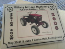 Nittany Antique Machinery Assn. Spring Show 2008 Dash Plaque Center Hall Pa.