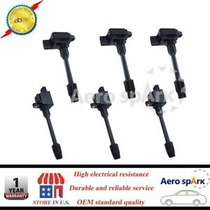 For Nissan Maxima Infiniti I30 Ignition Coils Set of 6 Front Rear 2000-2001