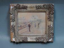 "GABRIEL SPAT (Amer., 1890-1967) Impressionist Pastel ""Quai St Michel"" c. 1940s"