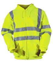 Blackrock Hi Vis Yellow Zipped Hooded Sweatshirt Hoody Jumper Hoodie High Viz
