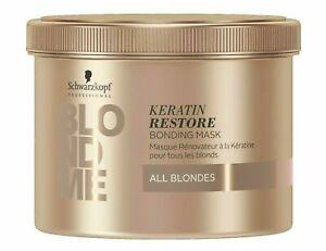 Schwarzkopf BLONDME Keratin Restore Bonding Mask! All Blondes 16.9oz RETAILS $53