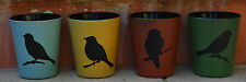 SET of Ceramic Tea light Candle Holders  w Bird Motif      BRAND NEW