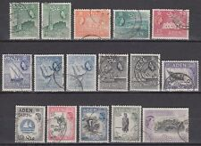 Aden 1954/59 Mi.62/74 A+C fine used Definitives Freimarken [g1954]