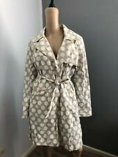 RAMOSPORT beige with white polka dot rain coat M fits 10 12 GUC