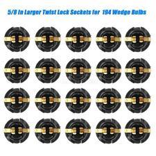 20x Twist Lock Sockets 5/8 Inch for Instrument Panel Dashboard 194 168 T10 Bulbs