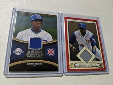 Alfonso Soriano Lot(2) 2008 Sweet Spot Swatches Jersey, 2005 Origins Jersey