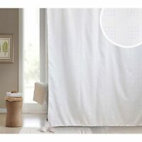 Blue Canyon SOFIA Bath Shower Curtain In White Or Cream 180 X Cm Polyester