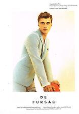 PUBLICITE ADVERTISING 114  2014   DE FURSAC pret à porter homme CLEMENT CHABERNA