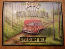 """Michigan Founders Brewing Brewery Craft Beer All Day IPA Tin Tacker Sign-20""""x15"""""""