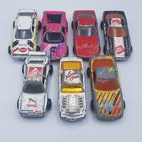 Lot of 7 Vintage Majorette Die Cast Sports Cars Corvette Audi BMW Pontiac Retro