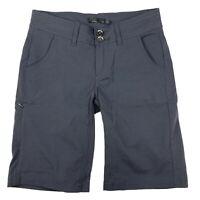 "Womens prAna Halle 10"" Stretch Cargo Dark Gray Hiking Shorts Size 0 Khaki Small"
