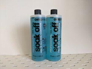 ONYX Soak It Off Professional Nail Polish Remover Gel & All Nail Coatings 2 PACK