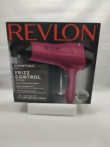 Revlon Essentials Frizz Control Lightweight Styler Hair Dryer 1875 Watts - Pink