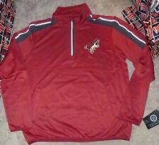 cbbfdfb8987 NEW NHL Arizona Coyotes Ice Hockey 1/4 Zip Pullover Jacket Men L Large NEW
