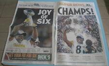 STEELERS SUPERBOWL XLIII & XL CHAMPIONS NEWSPAPERS